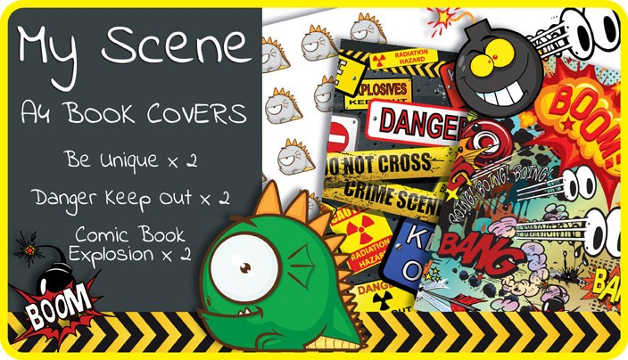 School Exercise Book Cover Design : My scene a school book covers pack
