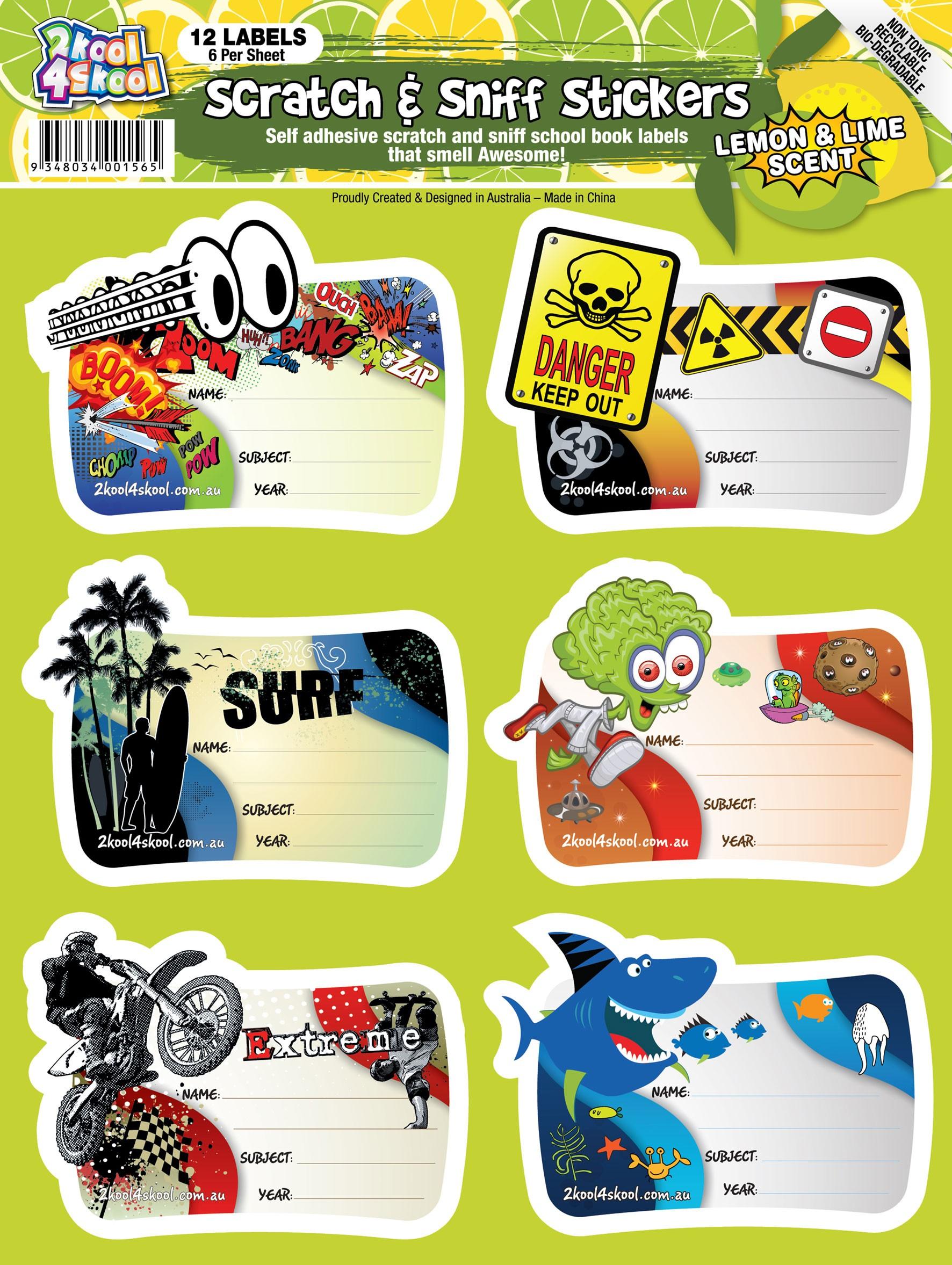 Lemon & Lime Scratch n Sniff Book Labels