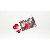 Heart USB & Bag Tag/ID Cover Set