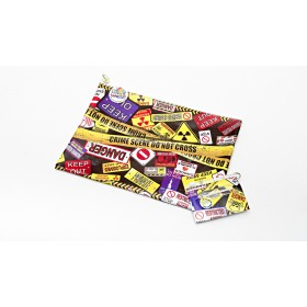 Danger Keep Out Pencil Case & ID Cover Set