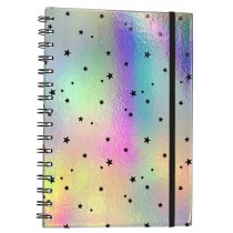 Hologram Spiral Notebook Diary