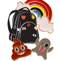 School Bag Badge Sets, Jacket or School Tie Badge Sets
