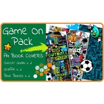 Game On A4 School Book Cover Pack