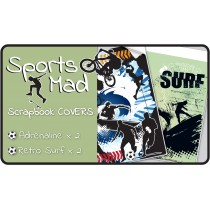 Sports Mad Slip-On PVC Scrapbook Covers - 4 pack