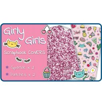 Girly Girls Slip-On PVC Scrapbook Covers - 4 pack