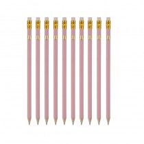 10 Pack of Pink Pencils with Gold Heart