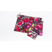 Lips & Vinyl Pencil Case & ID Cover Set
