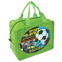 Soccer Goals Lunch Bag