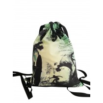 Retro Surf Drawstring Bag