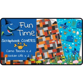 Fun Time Slip-On PVC Scrapbook Covers - 4 pack