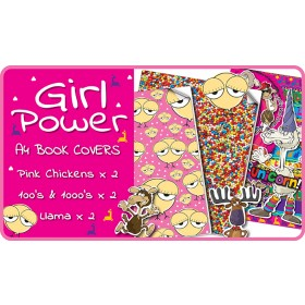 Girl Power Slip-On A4 School Book Covers - 6 pack