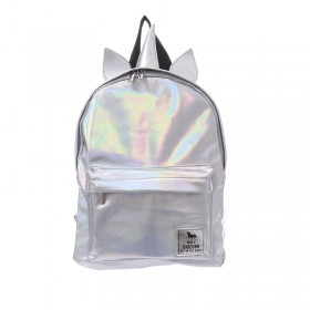 Silver Hologram Unicorn Backpack