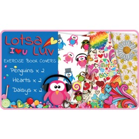 Lots-a-Luv Exercise School Book Covers (9x7) - 6 pack