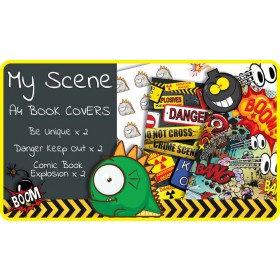 My Scene A4 School Book Covers - 6 pack