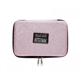 Pink Glitter Hard Cover Pencil Case