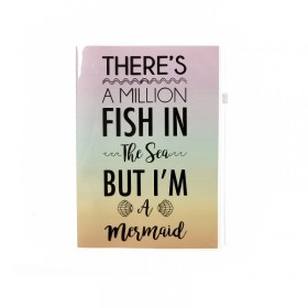 Mermaid A5 Notebook with Pouch