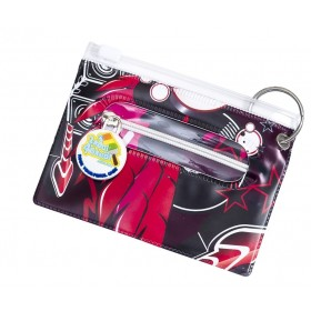 Lips & Vinyl Bag Tag, ID Holder, Student & Transport Card Holder