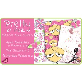 Pretty In Pink Exercise School Book Covers (9x7) - 6 pack