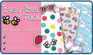 Busy-Bee A4 School Book Covers - 6 pack Slip-On PVC Jackets