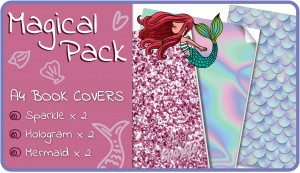 Magical A4 School Book Covers - 6 Pack Slip-On PVC Jackets