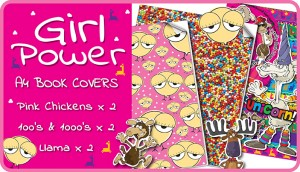 Girl Power A4 School Book Covers