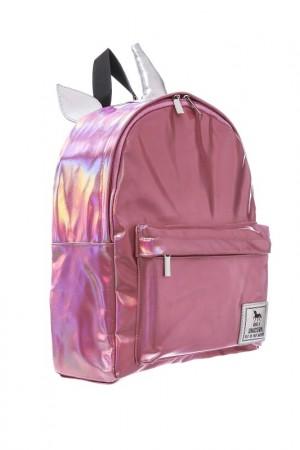 Pink Hologram Unicorn Backpack
