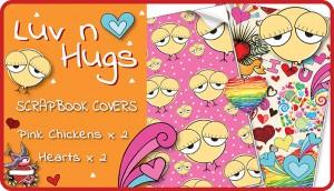 Luv n Hugs Scrapbook Cover Pack