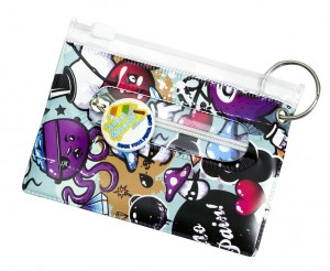 Graffiti Bag Tag, ID Holder, Student & Transport Card Holder