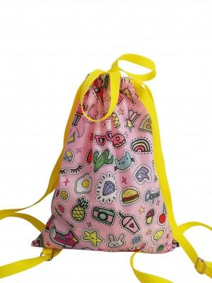 Patches Drawstring Bag 2 Kool 4 Skool
