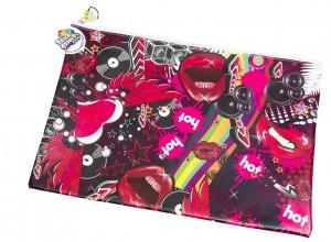 Lips & Vinyl Satchel Pencil Case/Library Bag