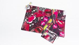 Lips & Vinyl Pencil Case & ID Cover Set
