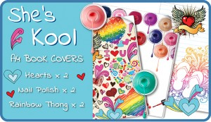 She's Cool A4 School Book Cover Pack