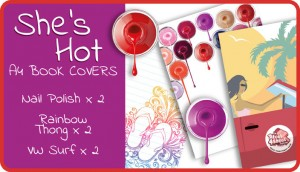 She's Hot A4 School Book Cover Pack