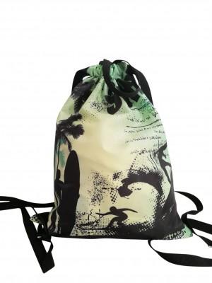 Retro Surf Drawstring Bag