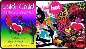 Wild Child A4 School Book Cover Pack